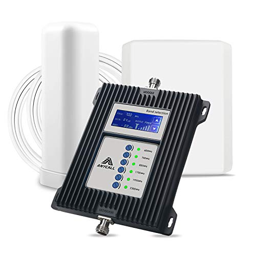 5G 7 Bands Cell Phone Signal Booster for Home/Office/RV - Boost 3G 4G LTE 5G Call Voice & Data...