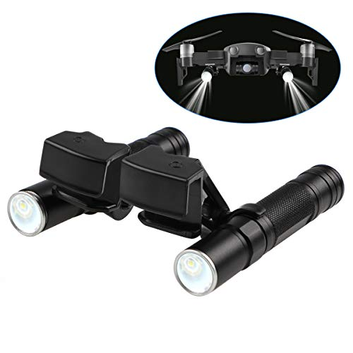 Hobby-Ace LED Light Kit Small Flashlight for DJI Mavic Air Drone Accessories, Long-Range Luminosity Adjustable Flashlight, Night Cruise, Night Searching, Flash Warning, Direction Guide