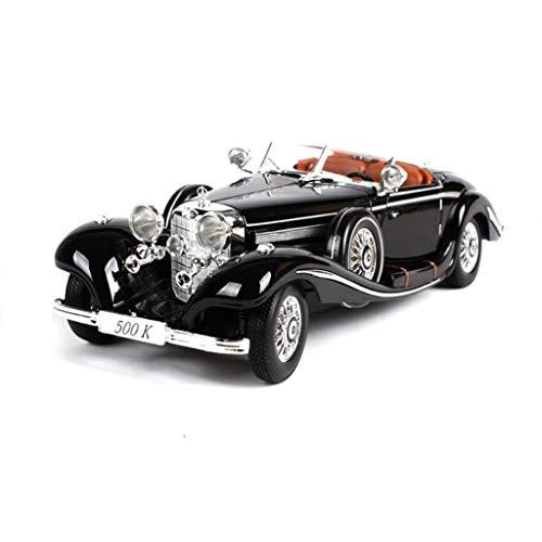 QRFDIAN Mercedes-Benz 500K-Simulationslegierungsfahrzeugmodell Retro Oldtimer Modellschmuck | Kinderspielzeugauto Jungenrennen | erwachsene metall spielzeug sammlung dekoration | Automodell 1:18 | Meh