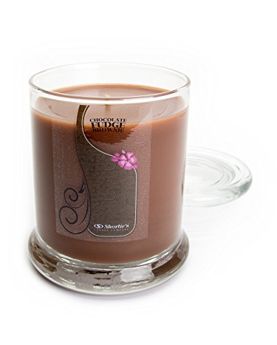 Chocolate Fudge Brownie Candle - Medium Brown 10 Oz. Highly Scented Jar Candle - Made with Natural Oils - Bakery & Food Collection