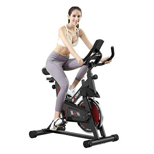Bicicleta Estacionaria,Resistencia Magnética Ultra Silencioso Pantalla LCD Ciclismo Interior,Asiento Manillar Cómodos Totalmente Ajustables para Entrenamiento Casa