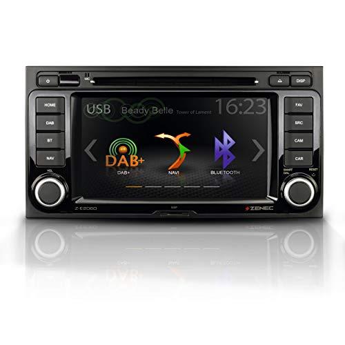 """ZENEC Z-E2060: Infotainer, 2 Din Mediencenter für VW T5 Multivan und California, Multimedia mit 6,5""""/16,5 cm Touchscreen, Autoradio mit DAB+, CD/DVD, Bluetooth, zum Navi erweiterbar"""