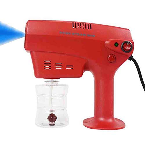 Désinfection Lumière Bleue Nano Steam Gun, Ultra Bien Aérosol Eau Brouillard Déclencheur Pulvérisateur Stérilisation, Rouge