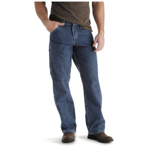 Lee Herren Latzhose Straight Leg Carpenter Jeans - Blau - 36W / 36L