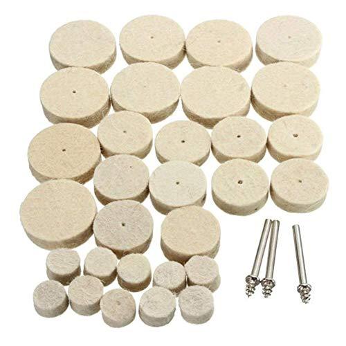 ZANYUYU Herramienta abrasiva, 33 piezas de lana pulidora molinillos accesorios para herramienta rotativa