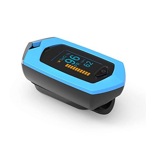 XFC-HE, Finger Pulsossimetro OLED USB Spo2 Ricaricabile di Ossigeno del Sangue Meter Oximetro Dedo Dita Saturatiemeter Vinger Pulsossimetro (Colore : Oximeter No Case)
