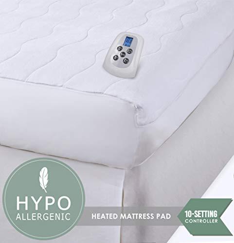 Serta Almohadilla térmica con Control Digital programable para colchón, Felpa de Terciopelo, tamaño…