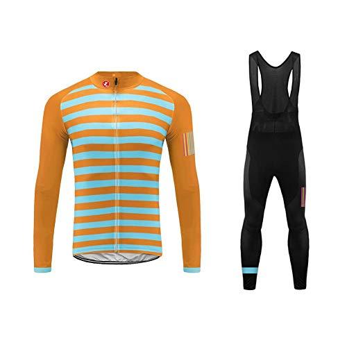 UGLY FROG Maglia da Ciclismo da Ciclismo Inverno Fleece Sweat Maglia da Ciclismo a Manica Lunga+Lungo Bib Pantaloni Body(Due Caricato) Aggiornamento dello Stile