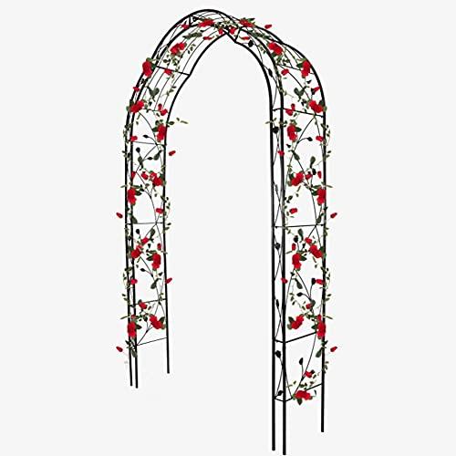 HJZY Pergola en Fer Forgé, Arche Jardin Fer Forgé, Arche de Mariage, Tuteur Roses Arche, pour Décoration de Fête de Mariage Support Fleurs et Ballon pour Les Anniversaires