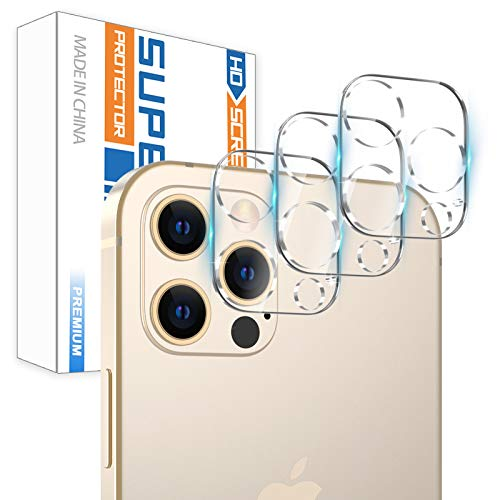 【3 Pack】Camera Screen Protector for iPhone 12 PRO MAX 5G (6.7) Screen Protector Tempered Glass, Case Friendly No-Bubble HD Clear Anti-Scratch Camera Lens Screen Protector for iPhone 12 PRO MAX