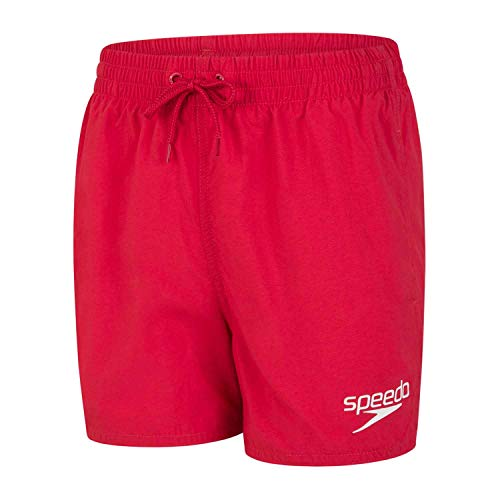Speedo Essential De 13' Shorts De Baño, Niños, Rojo Fed, L