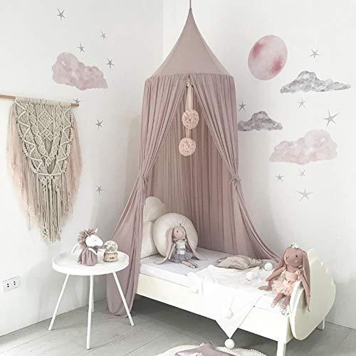 LPxdywlk 240 cm Kinder Kinder Schlafzimmer Bett Vorhang Baldachin Hängen Sommer Moskitonetz Decor Wohnzimmer Liefert Helles Lila