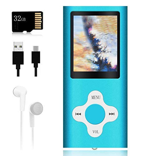 Mp3 Player,Music Player with a 32 GB Memory Card Portable Digital Music Player/Video/Voice Record/FM Radio/E-Book Reader/Photo Viewer/1.8 LCD