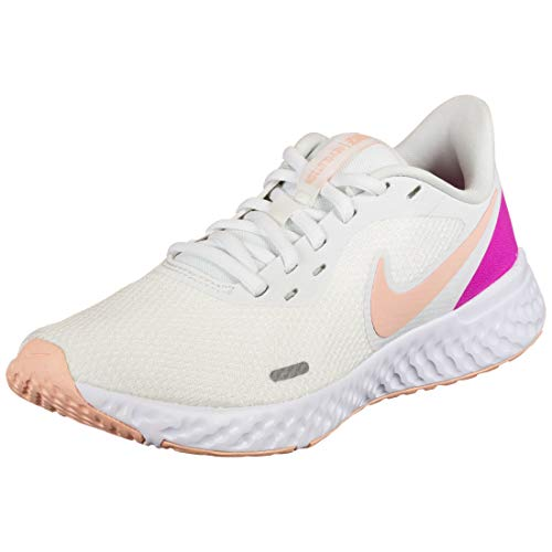 Nike Zapatos casuales Revolution 5 para mujer para correr Bq3207-103 talla, blanco (Summit Blanco/ Rosa), 35.5 EU