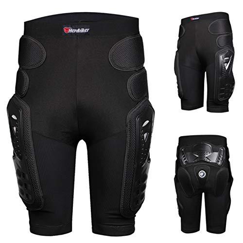 HEROBIKER Pantalones de armadura protectora, resistentes protectores de protección para patas de cadera, equipo de caballero de hockey para motocicleta, motocross, carreras de esquí.