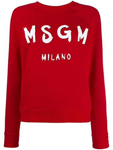 MSGM Luxury Fashion Womens 2741MDM8919579918 Red Sweatshirt | Fall Winter 19