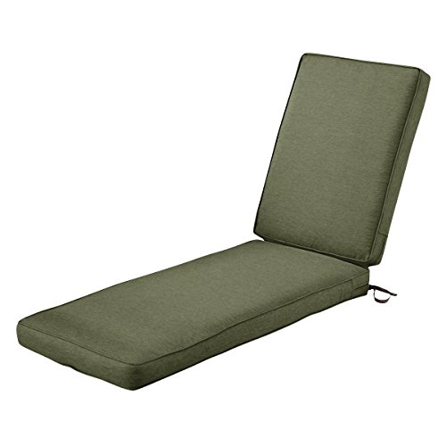 Classic Accessories Montlake Patio FadeSafe Chaise Lounge Cushion, Fern, 80