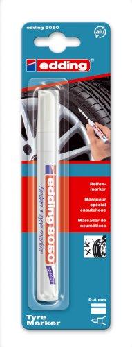 Edding 4-8050-1-1049 Spezial-, Reifenmarker, 2 - 4 mm, weiß
