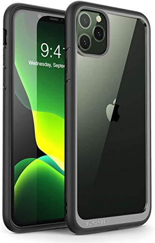 SUPCASE Funda para iPhone 11 Pro de 5.8 Pulgadas [Unicorn Beetle Style Series] Carcasa Protectora híbrida Premium Transparente (Negro)