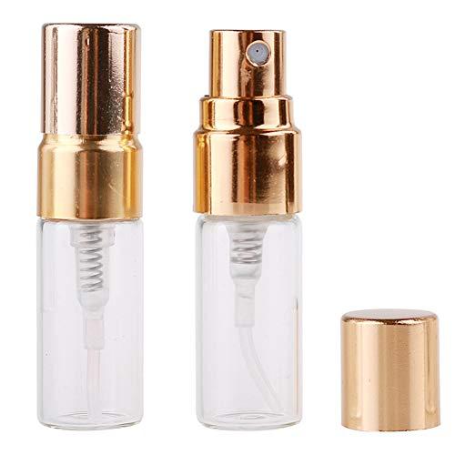 pinghub Vaporizador Perfume Recargable Atomizador Recargable Botella de Spray respetuosa con el Medio Ambiente Botellas de Viaje Botella de Perfume de Viaje Gold