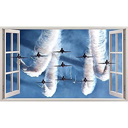 Qixidan Air Show RAF Spitfires Jets Wandaufkleber Schlafzimmer Mädchen Jungen Kleine Kinder-52x30cm