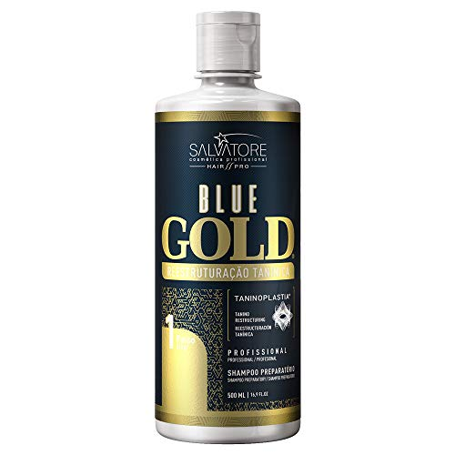 SALVATORE Shampoo Anti-Residuos Blue Gold, 500 ml
