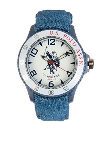 US Polo Association Reloj Analógico para Hombre de Cuarzo con Correa en Cuero USP4280WH