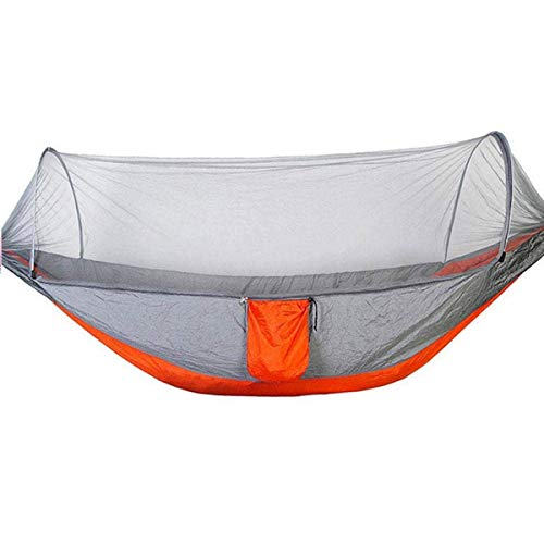 XHLLX Hamaca al aire libre de nylon anti-vuelco Hamaca de camping con mosquito