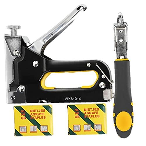 Grapadora manual con removedor de grapas Herramienta básica de servicio pesado para manualidades Muebles eléctricos fundamental