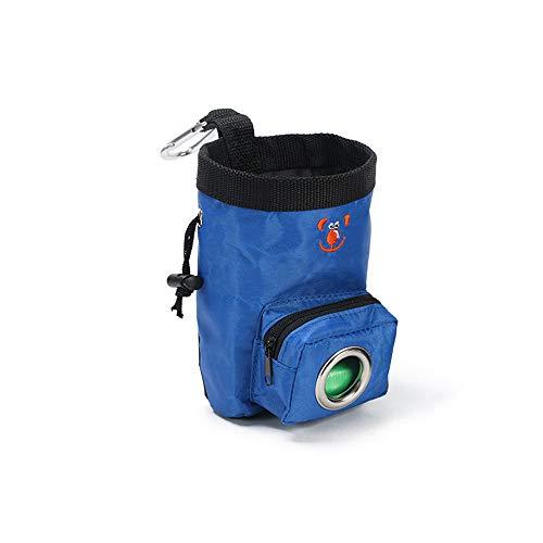 Ogquaton 1 PCS Durable Oxford Tissu Pet Formation Snack Taille Sac De Récompense Poche avec Sac À Ordures Portable Sac d'alimentation Bleu