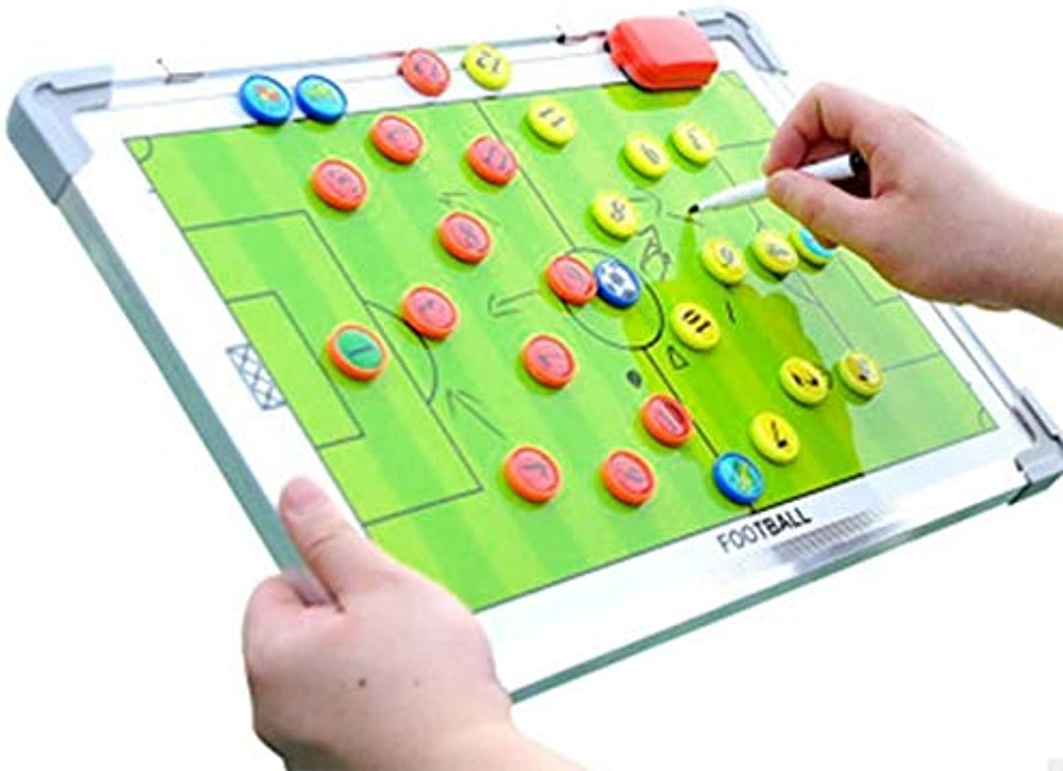 Aluminum Alloy Soccer Magnetic Tactical Board BB55   White