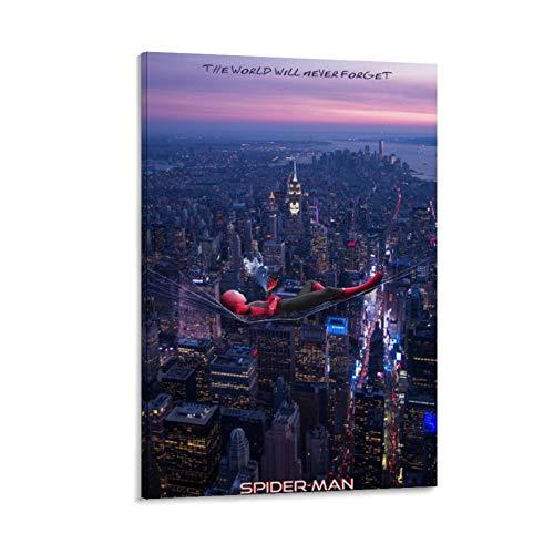Ghychk Spider-Man - Lienzo decorativo para pared, diseño de cómic, superhéroe, para el hogar, la oficina, el dormitorio, la sala de estar, listo para colgar, 30 x 45 cm