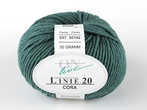Online Wolle: Linie 20, Cora, Merino-Strickgarn, col.537, 50 gr/85m