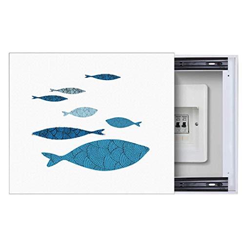 Cuadro de medidor eléctrico Cuadro de distribución de Aire de Pintura Decorativa Cuadro eléctrico Americano Cuadro de decoración Mural HUYP (Color : Black, Size : (40 * 50cm 30 * 40cm)-Push Right)