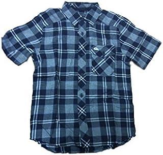 Quiksilver - Camisa de Manga Corta niño, Color: Azul Marino, Talla: 8 años: Amazon.es: Ropa y accesorios