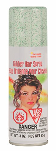 Rubie's Glitter Hairspray, Green