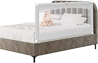 MAYbabe Bed Rail. Baby Bed Rail. Extra Long and Tall Kids Bed Rail Guard -Bed Guard Rails for Queen Size 60 inches Wide (Gray-1 Pack)