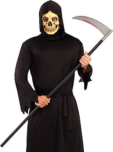 Funidelia   Guadaña ensangrentada para Hombre y Mujer ▶ Esqueleto, Calavera, Muerte, Terror - Color: Negro, Accesorio para Disfraz - Divertidos Disfraces y complementos