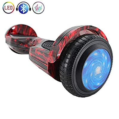 "X-PRO 6.5"" Self Balancing Scooter Hoverboard with Bluetooth, LED Lights! Exclusive Style! (Fire)"