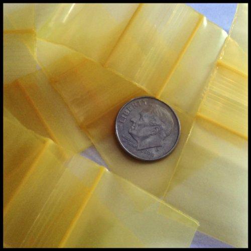 "Mini Ziplock Bags 1010 Chose A Color (16 Choices) 1"" X 1"" Bags Reclosable Plastic Baggies High End Quality (black) 100 bags Photo #6"