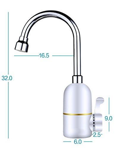 SLT waterkraan, boiler voor warm water, dubbele elektrische waterkraan, warm en koud