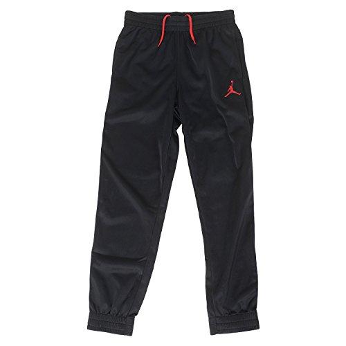 NIKE Jordan Big Boys' Jumpman Basketball Pants (M (10-12YRS), Black/Red)