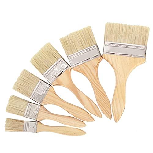 5 Piezas Cepillo de Pintura, Pincel de Plano Pincel de Barniz Pincel de Acuarela Pincel Pluma Brochas de Pintura de Pintor para Pintura Paredes y Madera, Manchas, Pegamentos