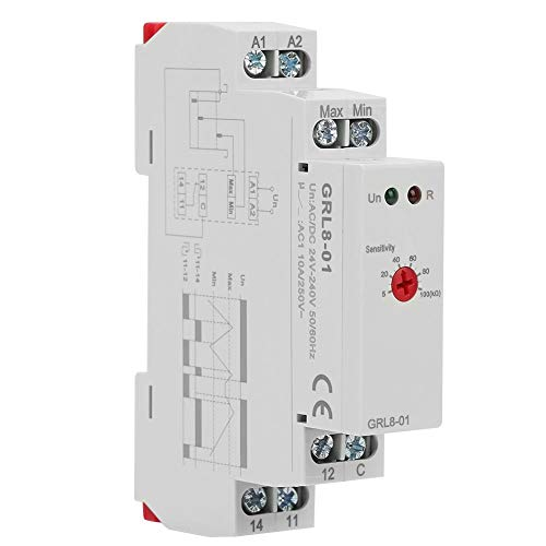 Controlador de nivel de líquido, GRL8-01 Controlador de nivel de agua del relé de control de nivel de líquido 10A (CA/CC 24V-240V)