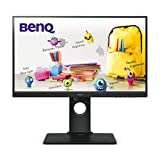 BenQ GW2480T - Monitor de 23.8' FullHD (1920x1080, 5ms, 60Hz, HDMI, IPS, DisplayPort, VGA, Altavoces, Eye-Care, Sensor Brillo Inteligente, Flicker-Free, Low Blue Light, Regulable Altura) - Color Negro