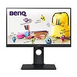 BenQ GW2480T - Monitor de 23.8' FullHD (1920x1080, 5ms, 60Hz, HDMI, IPS, DisplayPort, VGA, Altavoces, Eye-Care, Sensor Brillo Inteligente, Flicker-Free, Low Blue Light, Regulable Altura) - Color Negro