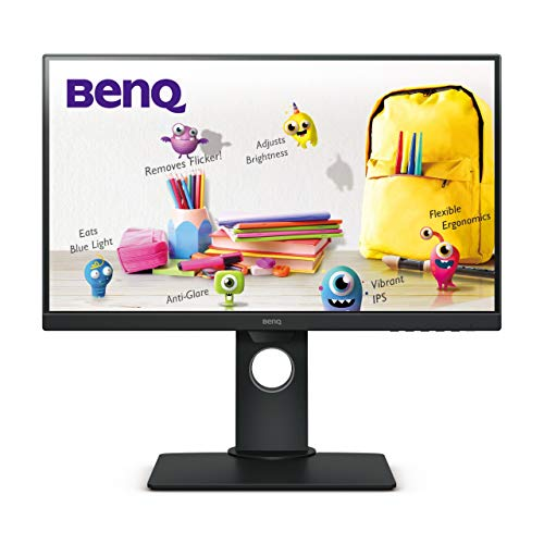 "BenQ GW2480T - Monitor de 23.8"" FullHD (1920x1080, 5ms, 60Hz, HDMI, IPS, DisplayPort, VGA, Altavoces, Eye-Care, Sensor Brillo Inteligente, Flicker-Free, Low Blue Light, Regulable Altura) - Color Negro"