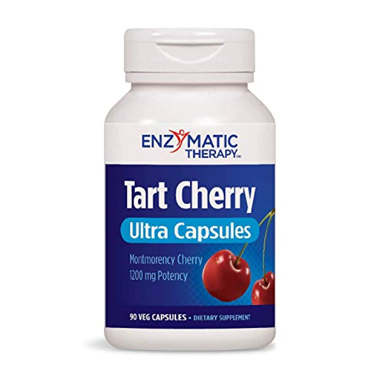 Enzymatic Therapy Tart Cherry Ultra Vegetarian Capsules, 90 Count
