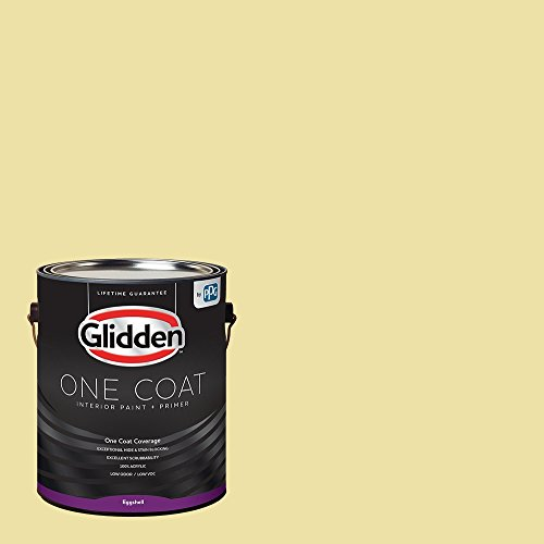 Glidden Interior Paint + Primer: Yellow Interior Paint /Turning Oakleaf, One Coat, Eggshell, 1 Gallon