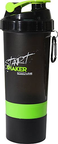 More Mile Bouteille 600ml Start Protein Shaker Noir Accessoires